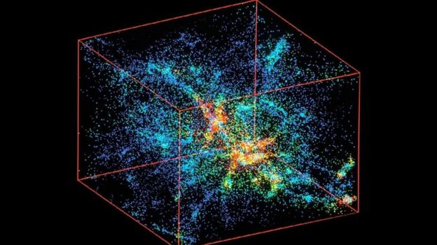 Una imagen artística que simula el origen del universo