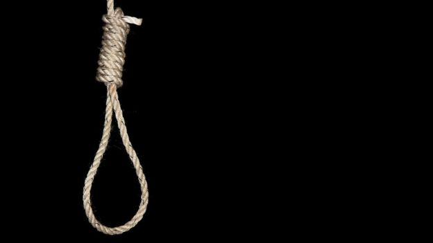 Rope, fashioned into a hangman's noose. February 2008.