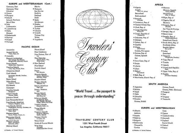 La lista del TCC de noviembre de 1965.