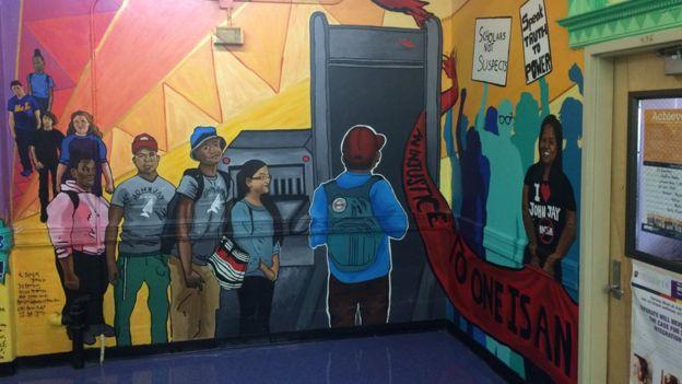 Mural en la escuela Park Slope
