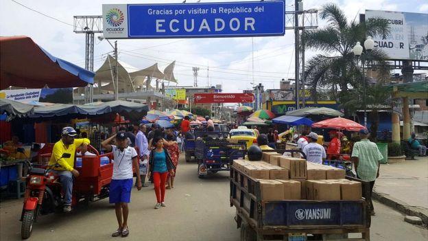 Cruce oficial entre Ecuador y Perú