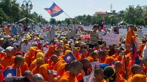 Cambodia opposition protests in 2013