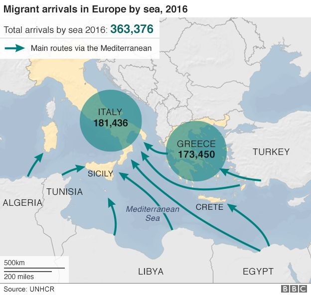 Migrant crisis eu leaders agree plan to stop libya influx bbc news most of those arriving in italy from libya come from a range of african countries some fleeing persecution many seeking a better life sciox Choice Image