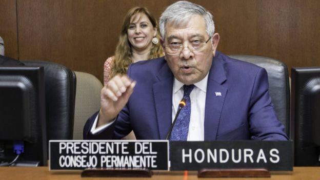 El embajador en la OEA de Honduras, Leónidas Rosa Bautista.