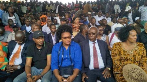 Baadhi ya viongozi waliofika katika bustani ya Uhuru Park kuhudhuria hafla ya kuapishwa kwa Raila Odinga