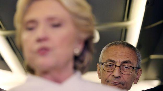 John Podesta with Hillary Clinton