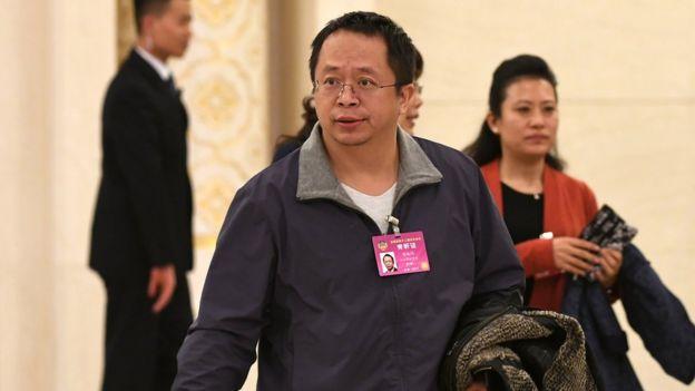 360公司董事長周鴻禕旁聽全國政協十二屆五次會議