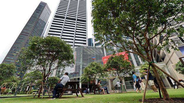 Parque público en Singapur