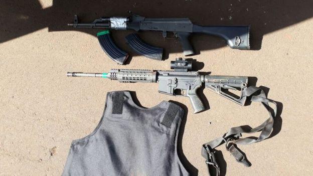 Armamento secuestrado