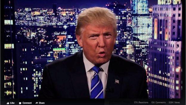 Captura del video de disculpas de Trump.