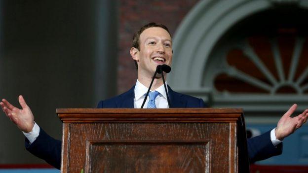 Mark Zuckerberg en un discurso