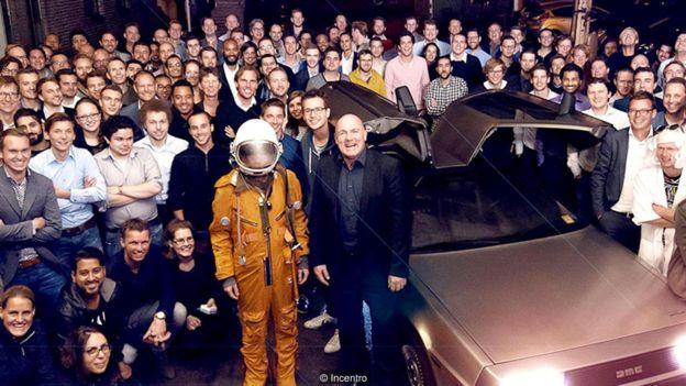 Grupo de trabajo en una empresa en Holanda