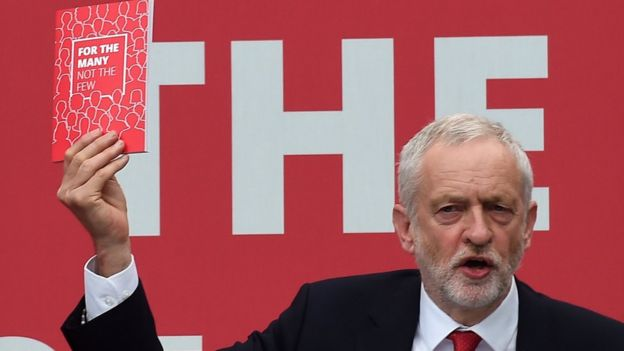 Jeremy Corbyn ve seçim bildirgesi