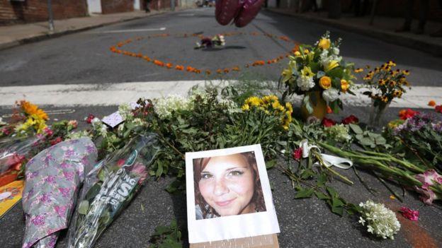 Olaylarda hayatını kaybeden 32 yaşındaki Heather Heyer'in fotoğrafı