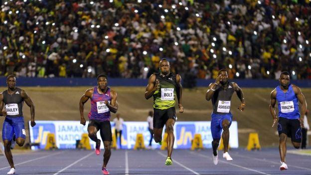 Competidores de los 100 metros