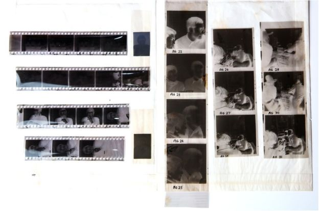 Negatives of photos of John Lennon