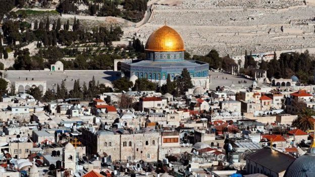 View of the city of Jerusalem.