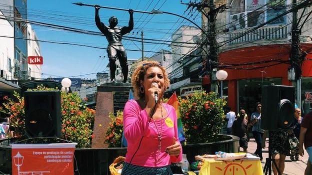 Marielle Franco discursa em Caxias