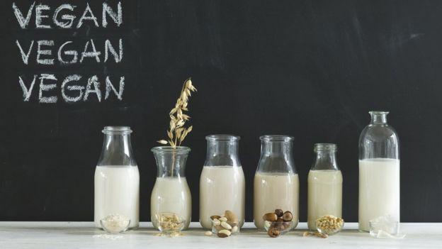 Diferentes tipo de leite veganos