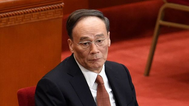 Wang Qishan, a member of the Standing Committee of the Political Bureau of the Communist Party of China (CPC) Central Committee and secretary of the CPC Central Commission for Discipline Inspection (CCDI), attends the opening session of the Chinese People's Political Consultative Conference (CPPCC) at the Great Hall of the People in Beijing on 3 March 2015.