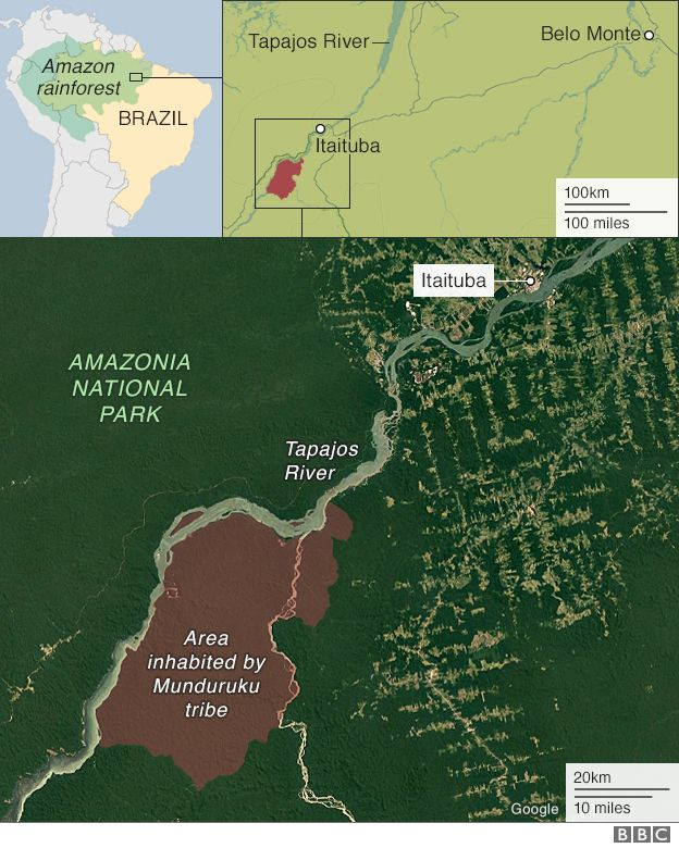 Amazon Culture Clash Over Brazils Dams BBC News - Us to brazil by boat map