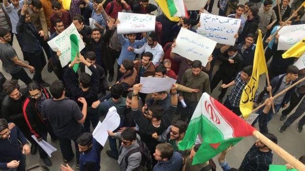 تجمع بسیجیان در دانشگاه امیرکبیر