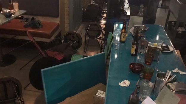 Restaurante no qual um dos criminosos agiu