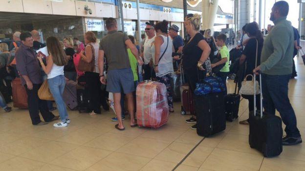 British passengers at Sharm el-Sheikh airport on 6 November 2015