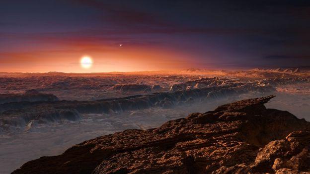 Ilustración de Proxima b de la ESO