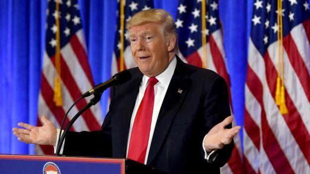 Donald Trump en un discurso.