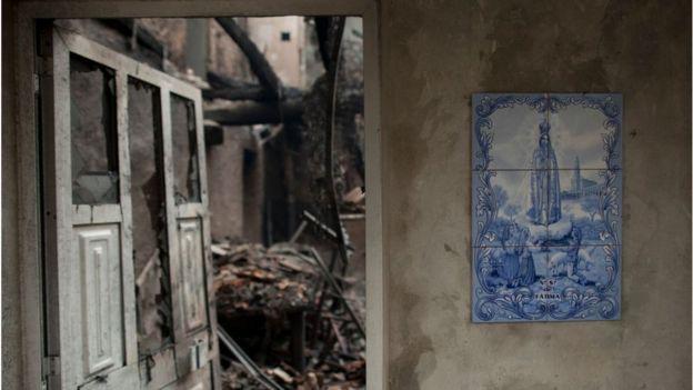 Фатима и выгоревший дом