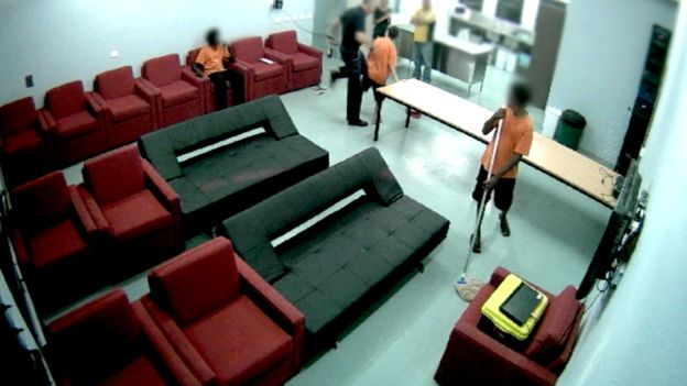 Video shows a prison guard apparently hitting a juvenile detainee