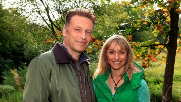 Chris Packham and Michaela Strachan
