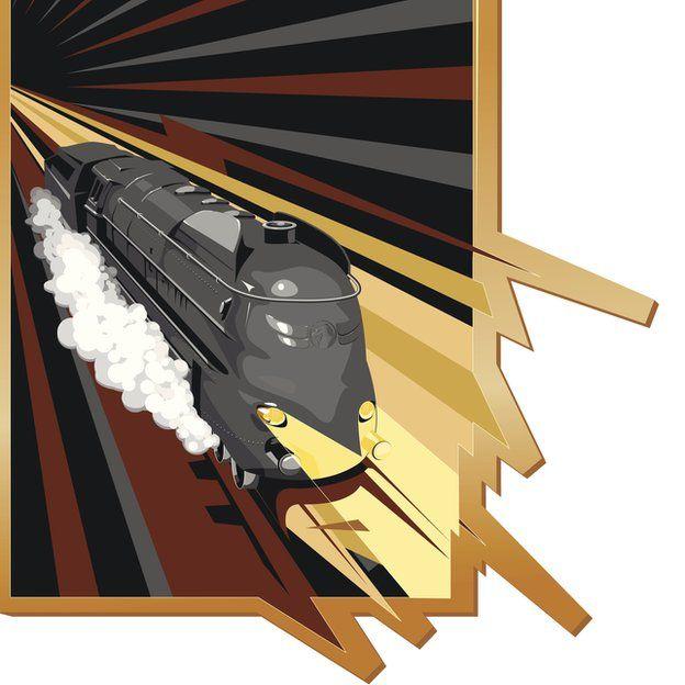 Dibujo de tren rápido