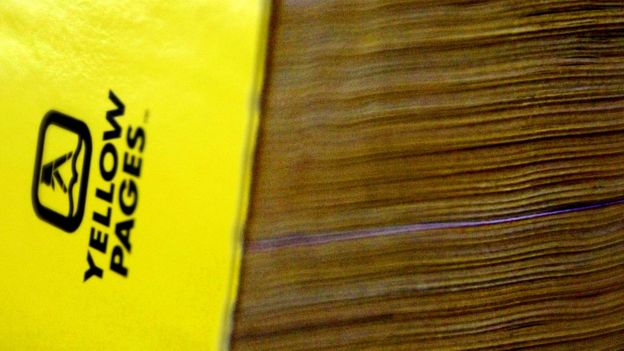 A Yellow Pages directory