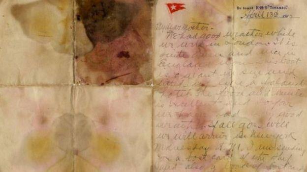 टाइटानिक पत्र, मुल्य, आमालाई पत्र, लिलामी