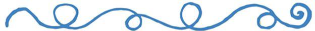 línea curva azul
