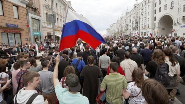 Kremlin yaxınlığında yerləşən Tverskaya küçəsində etiraz üçün icazə verilməyib