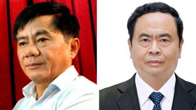 Ông Trần Cẩm Tú (Trái) và ông Trần Thanh Mẫn