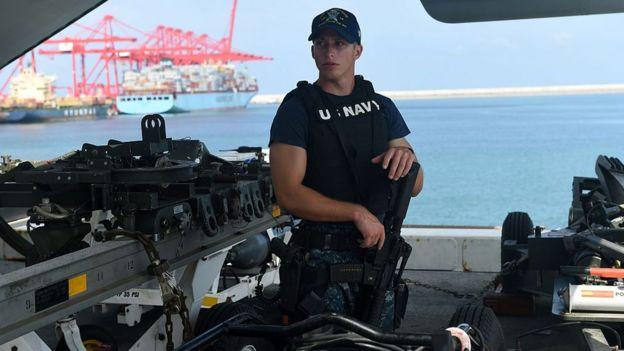 Soldado de la Marina estadounidense.
