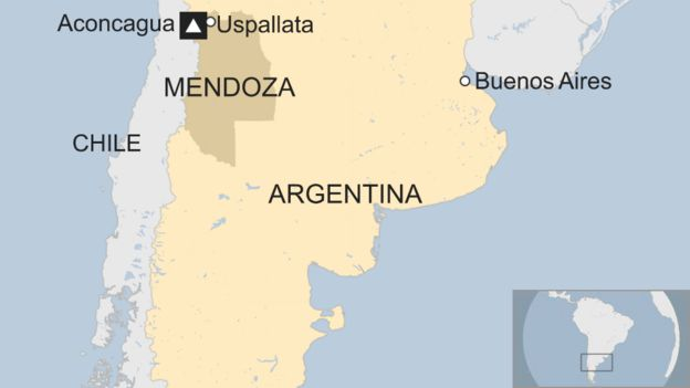 Argentina Coach Crash At Least Killed Near Border With Chile - Argentina chile map