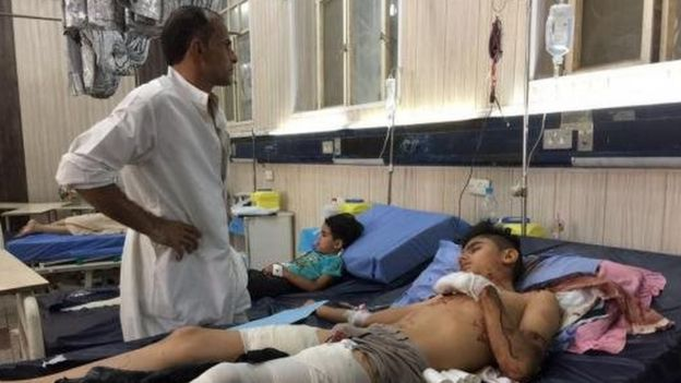 Injured in hospital in Nasiriya