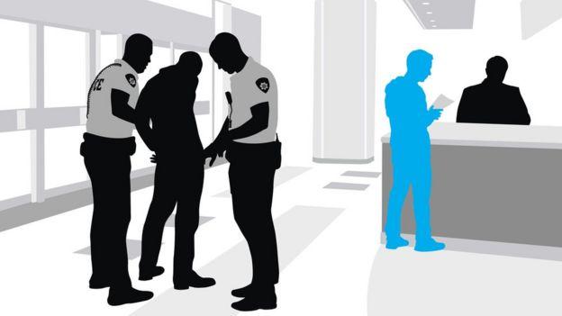 Ilustración de una comisaría. (Imagen: iStock/BBC)