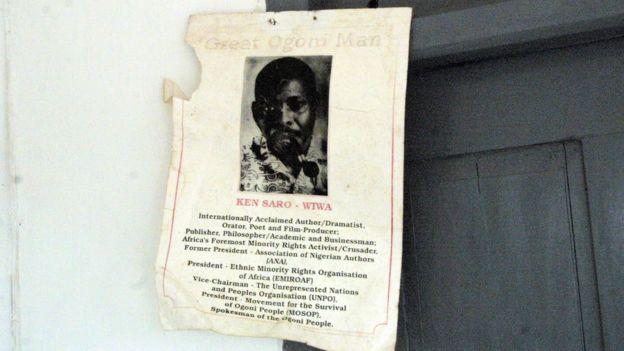 Foto del activista ejecutado por el gobierno de Abacha, Ken Saro-Wiwa.