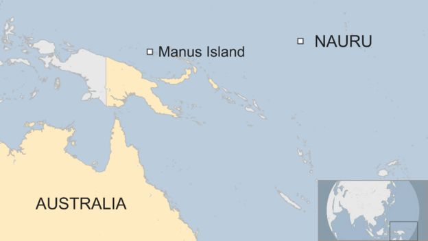 Australia refuses nz offer on manus island refugees bbc news map sciox Image collections