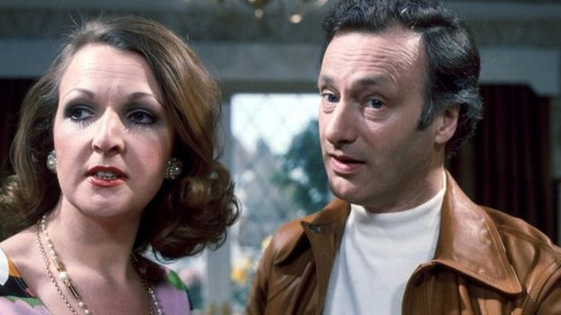 Penelope Keith and Paul Eddington in the BBC TV series The Good Life
