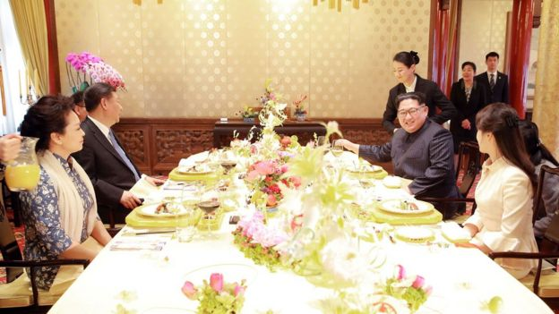 金正恩出席习近平举办的午宴