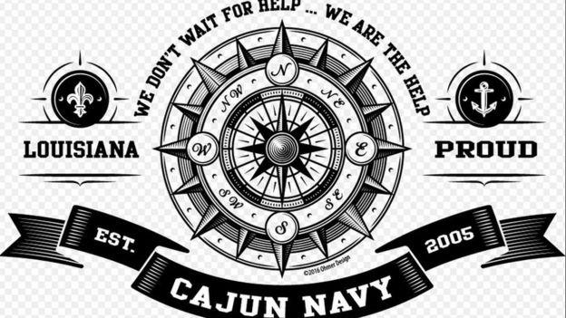 Logo del grupo de rescate Cajun Navy, creado tras el Katrina.