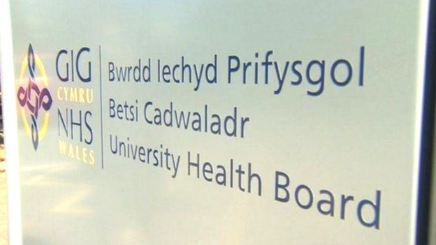 Betsi Cadwaladr health board sign