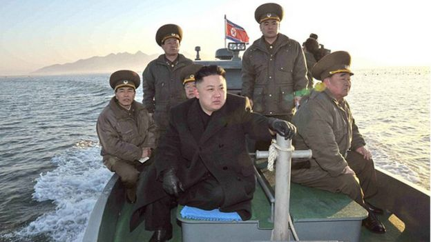 Kim Jong-un travels by boat to inspect island-based military units